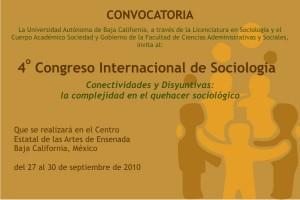 CUARTO CONGRESO INTERNACIONAL DE SOCIOLOGIA