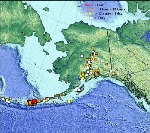 Racimo De Sismos En Islas Aleutianas Alaska Informe