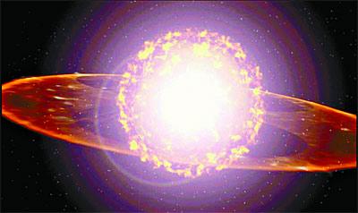 Resultado de imagen de La implosión de una estrella masiva